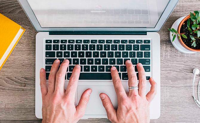 что собой представляет слепой метод печати на клавиатуре