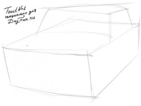 Як намалювати машину жигуль