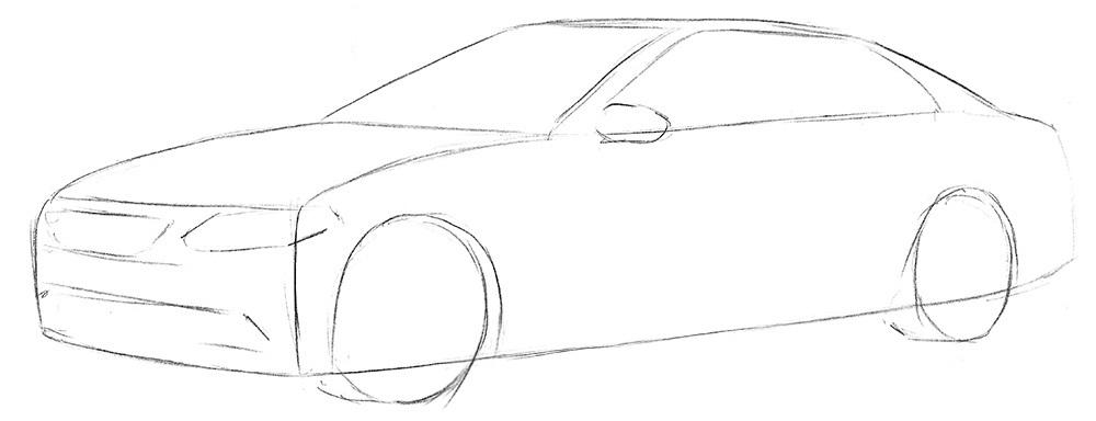 Як намалювати машину поетапно