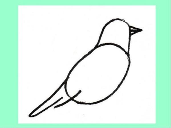 Як намалювати пташку поетапно