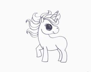 Як намалювати милого єдинорога