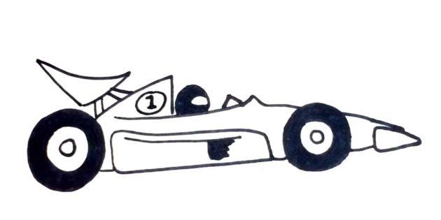 Як намалювати гоночну машину