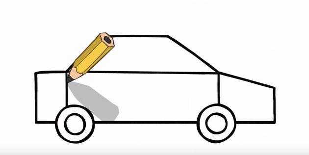 Як намалювати поліцейську машину поетапно