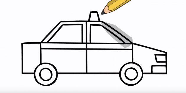 Як намалювати машину
