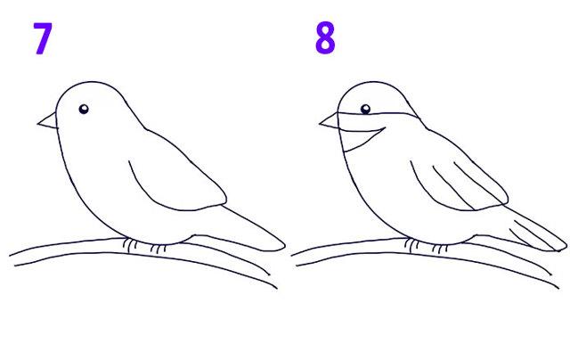 Малюнок пташки