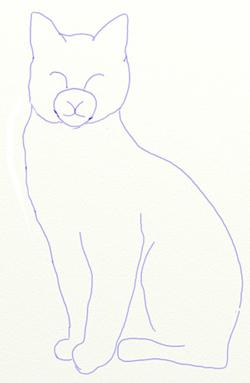 Як намалювати кота поетапно