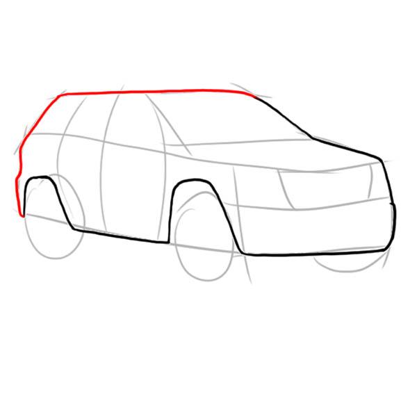 Як намалювати машину джип поетапно