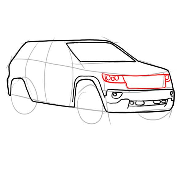 Як намалювати машину джип
