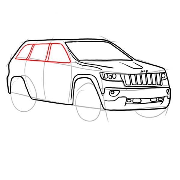 Як поетапно намалювати машину джип