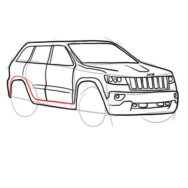 Як поетапно намалювати машину