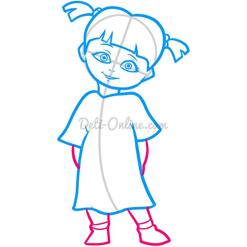 Як намалювати дівчинку поетапно