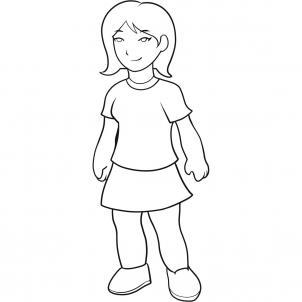 Як легко намалювати дівчинку