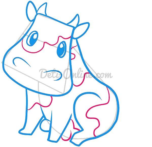 Як намалювати корову
