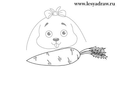 Як намалювати зайчика простим олівцем
