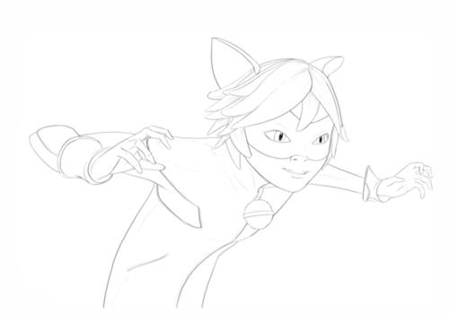 Як намалювати Супер Кота поетапно