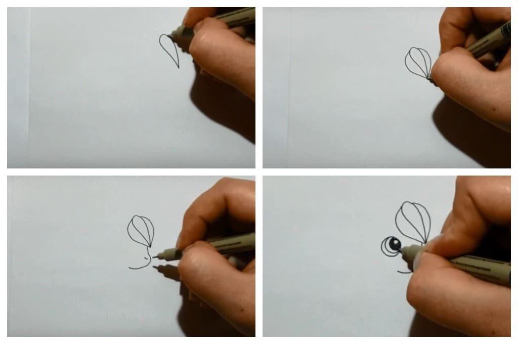 Як намалювати милого єдинорога з крилами