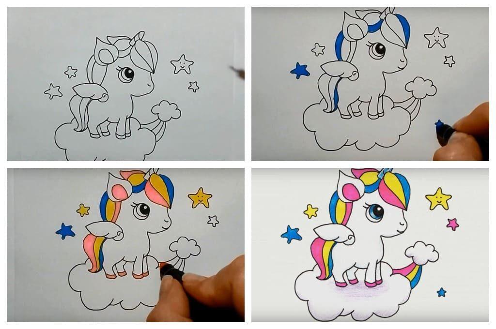 Як намалювати єдинорога легко
