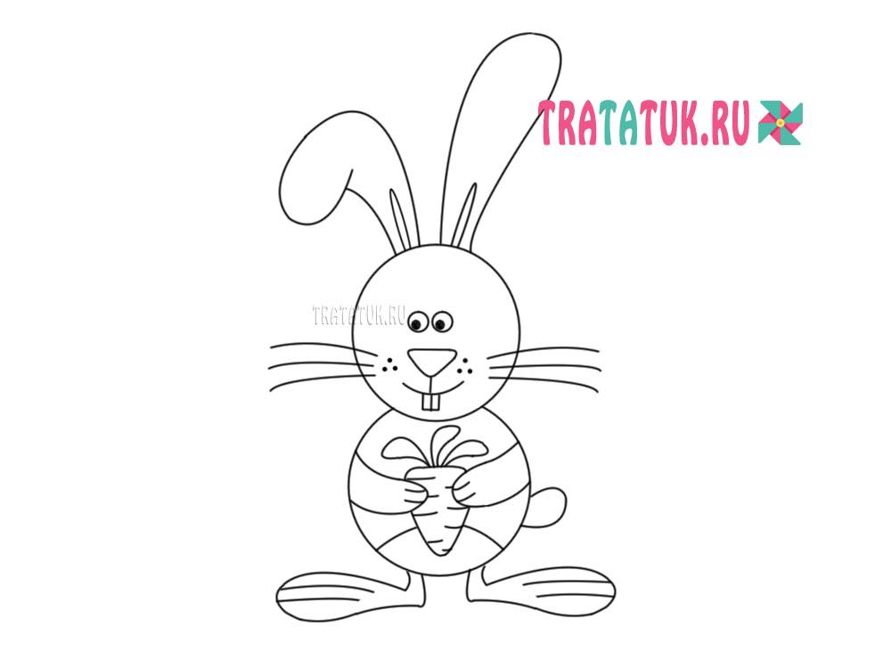 Зразок малювання зайчика