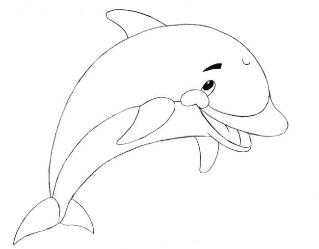 Як намалювати милого дельфіна