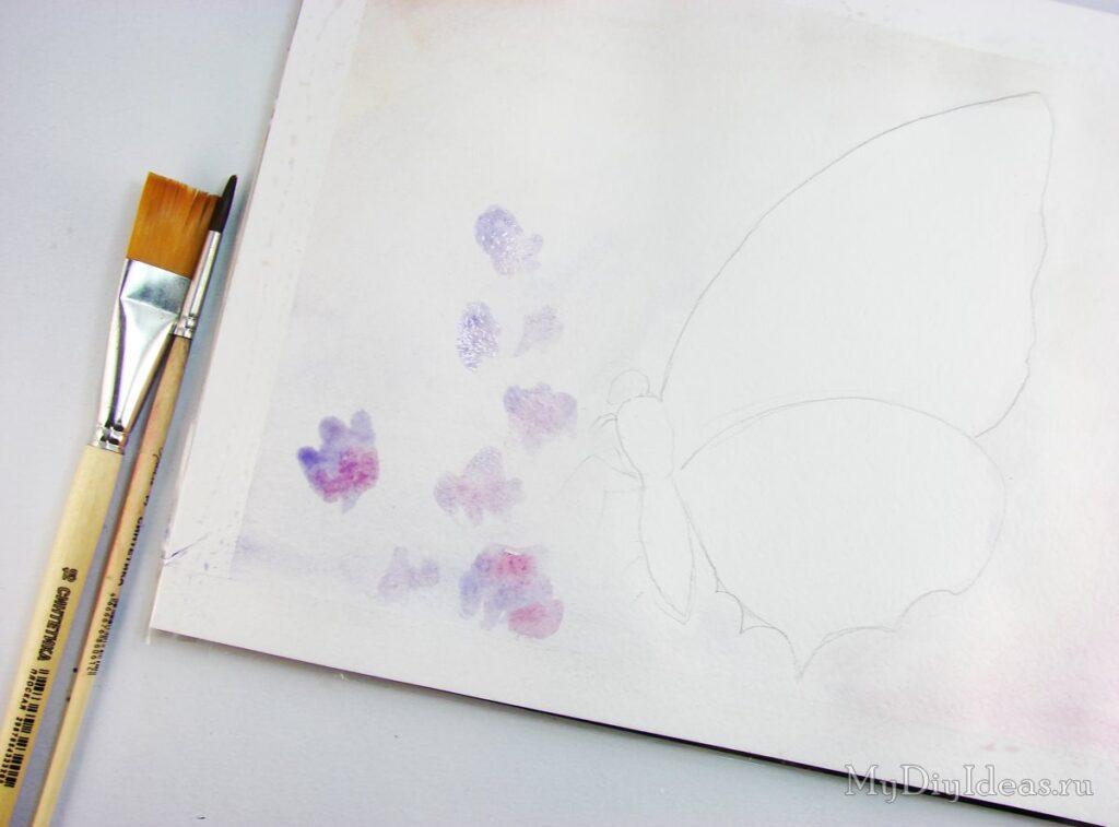 Метелик красками