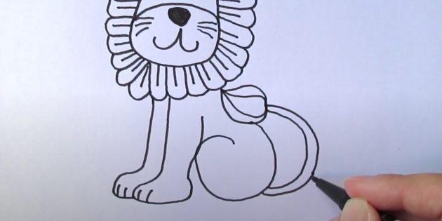 Як намалювати лева дитині