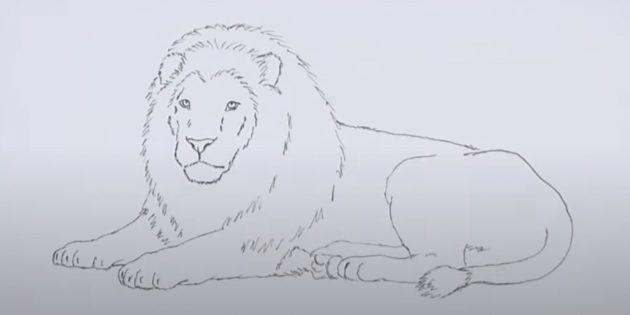 Лев малюнок