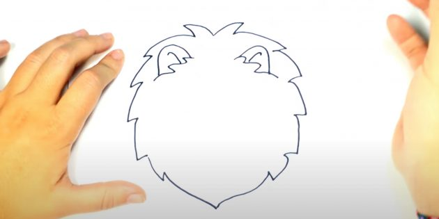 Як намалювати морду лева
