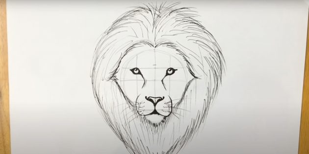 Малюємо морду лева