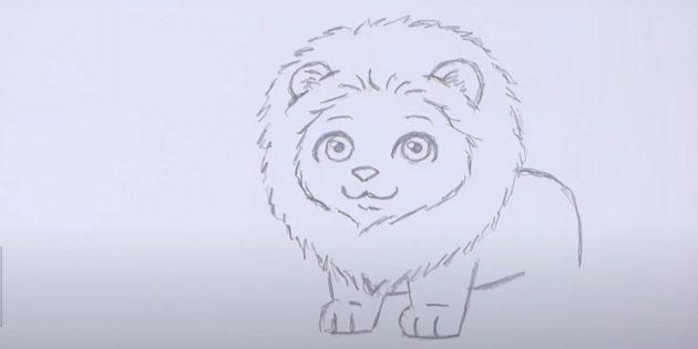 Мультяшний лев
