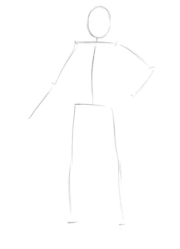 Як намалювати козака поетапно