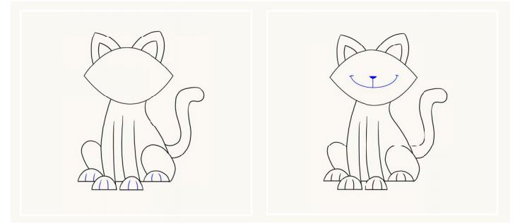 Мультяшний милий котик