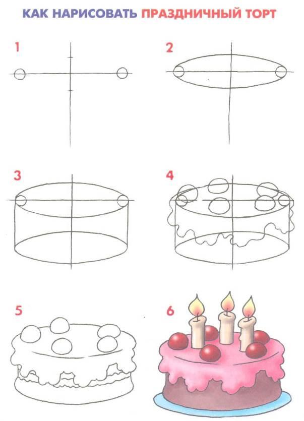 Святковий торт поетапно