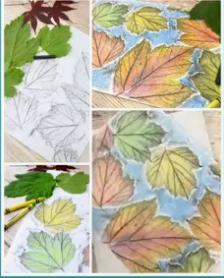 Як оригінально намалювати осінь