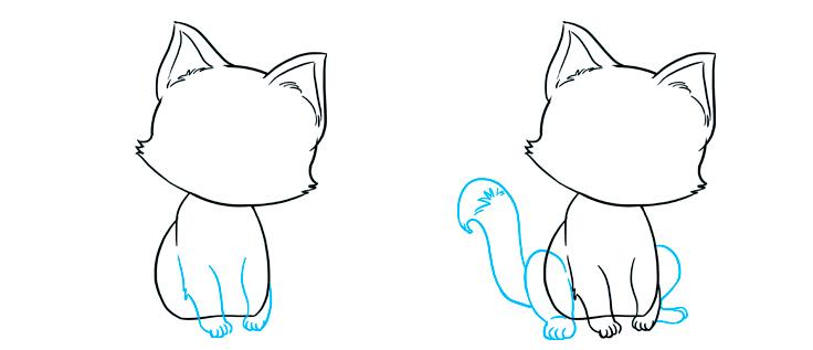 Як намалювати милу кицю