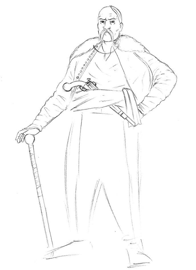 Малюнок козака
