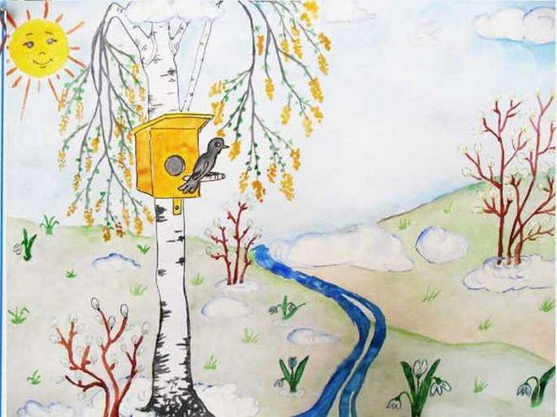 Зразок як намалювати весну