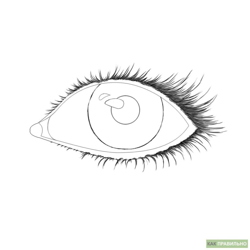 Як намалювати око