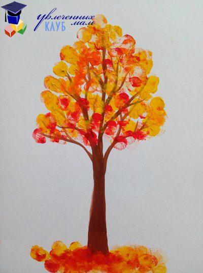 Як намалювати осіннє дерево