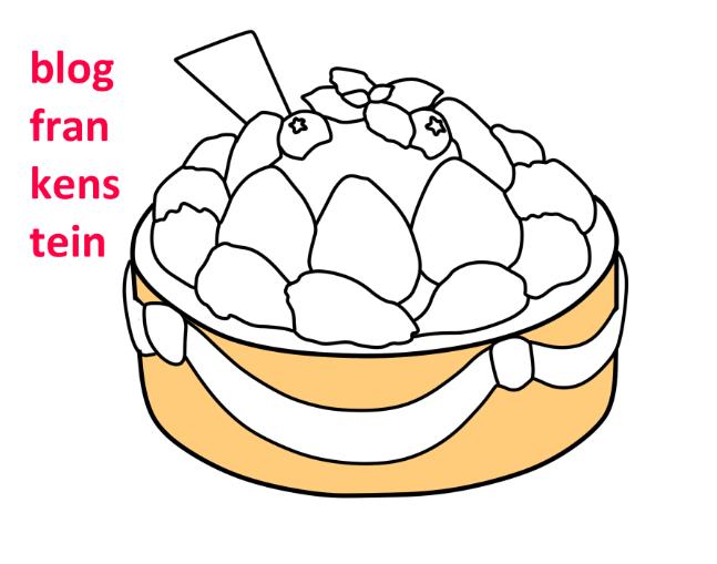 Як намалювати торт зразок