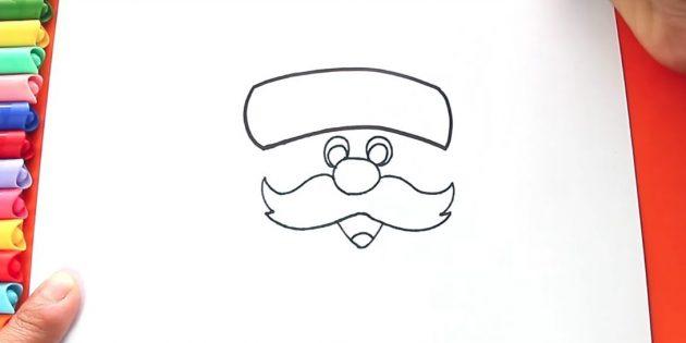 Як намалювати голову діда мороза