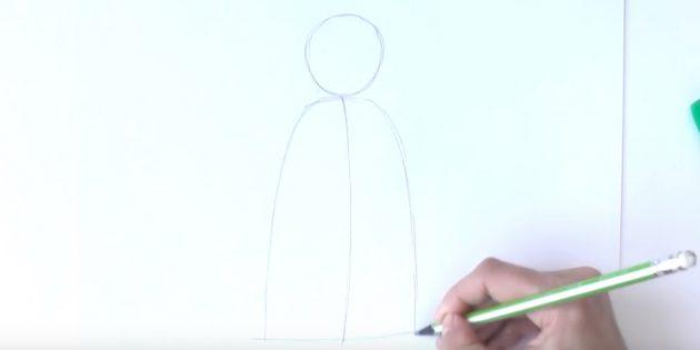 Як намалювати діда мороза