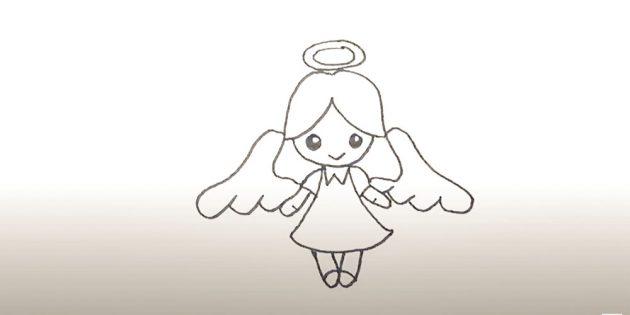 Як намалювати ангела маркером