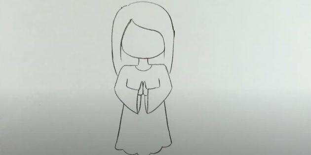 Як намалювати ангела олівцями