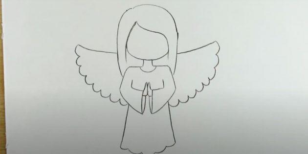 Як намалювати ангела
