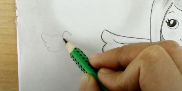 Ангел олівцем