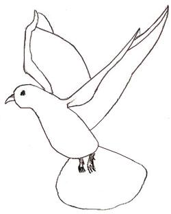 Голуб який летить