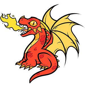 Як намалювати вогнедишного дракона