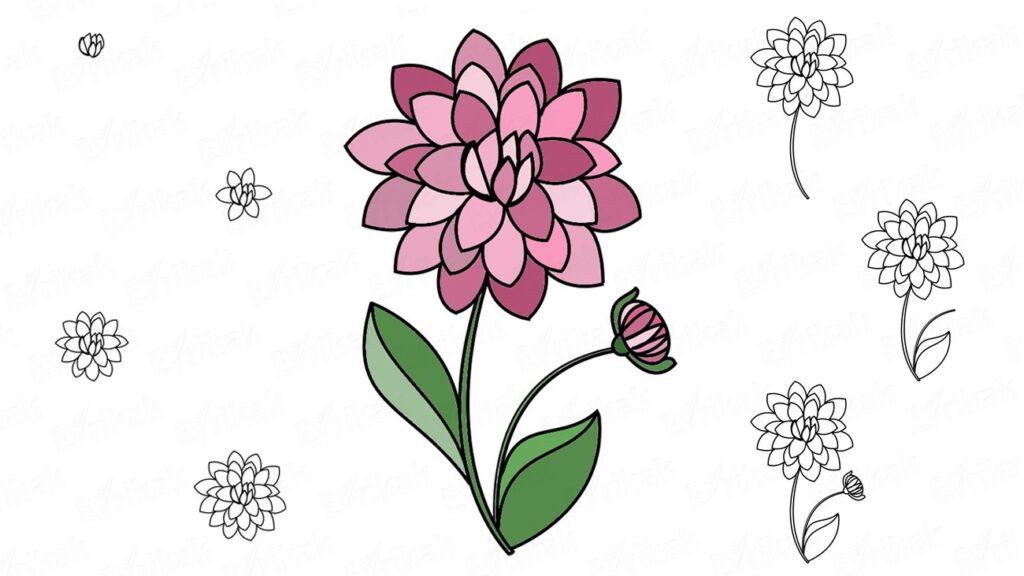 Як намалювати осінні квіти