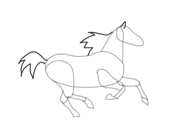 Як намалювати біжащого коня
