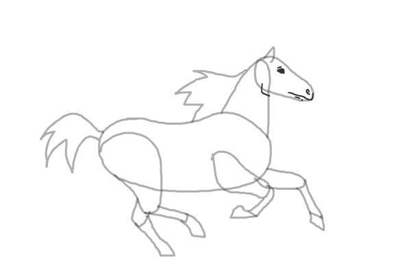 Кінь який біжить